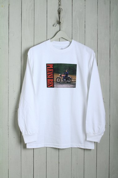 PLEASURES×Bob Dylan Ride L/S Tee White