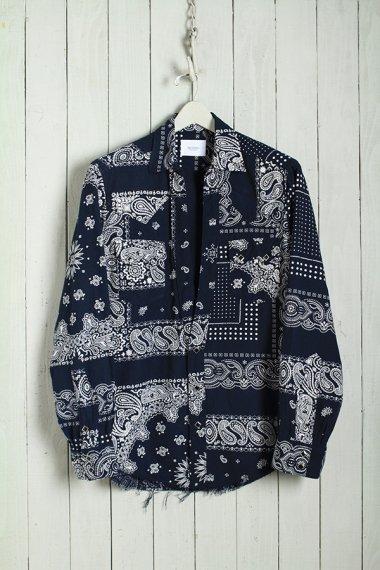 19AW Western Cutting Shirts -Bandanna Flannel-