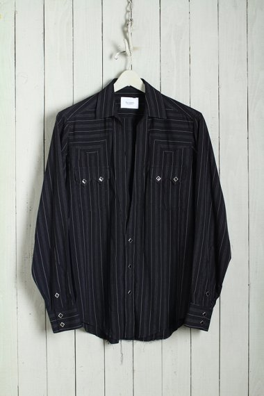 19AW Western Cutting Shirts -Rayon Stripe-