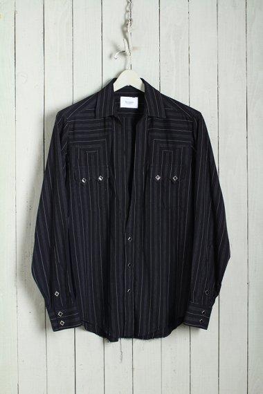 19AW Western Cutting Shirts -Rayon Stripe-