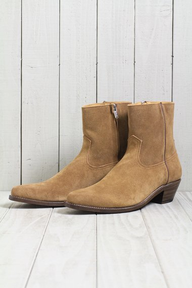 19AW Western Dress Side Zip Boots -Camel-