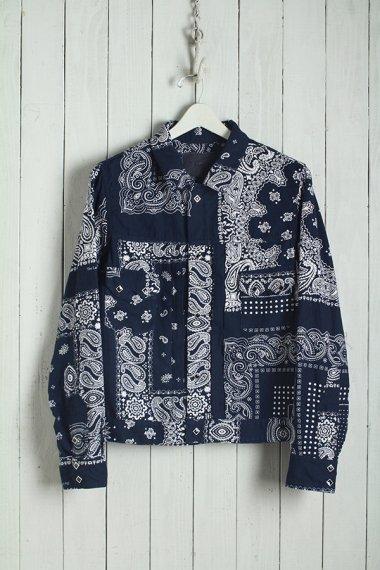 19AW Western Short Shirt -Bandanna Flannel-