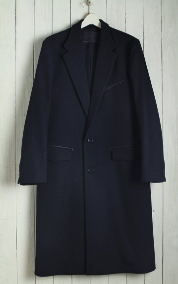 19AW Single Chesterfield Coat -Melton Wool-