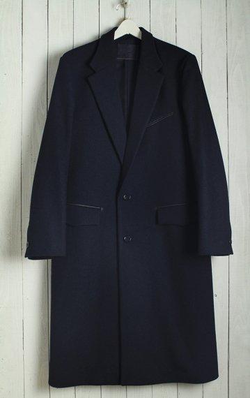 19AW Single Chesterfield Coat -Melton Wool-