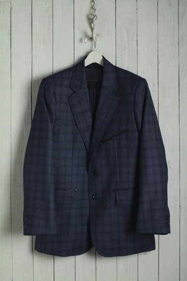 19AW Western Single Breasted Jacket -Serge Wool Check-