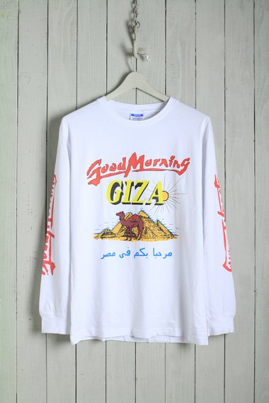 19AW Good Morning Giza L/S Tee White