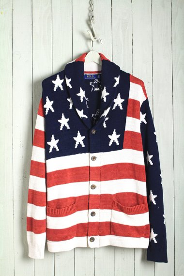 Hand Knit American Flag【Dead Stock】
