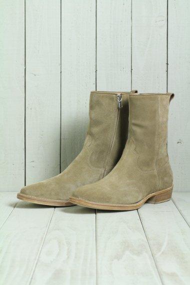 MINEDENIM×nonnative 19AW Side Zip Boots BRN