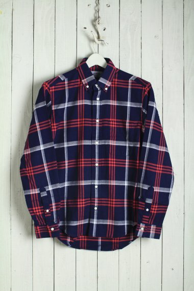 19AW Check BD Shirts Navy×Red