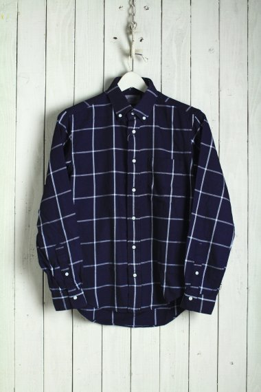 19AW Check BD Shirts Indigo