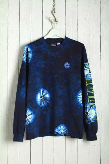 19AW Aftermath L/S Tee Blue Tie Dye