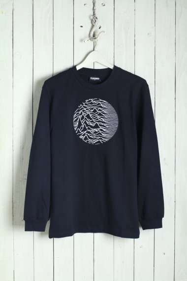 PLEASURES by Joy Division Lost Control Embroidered Premium L/S Tee Black