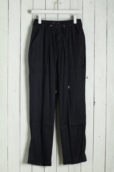 20SS Linen Semieasy Trousers Black