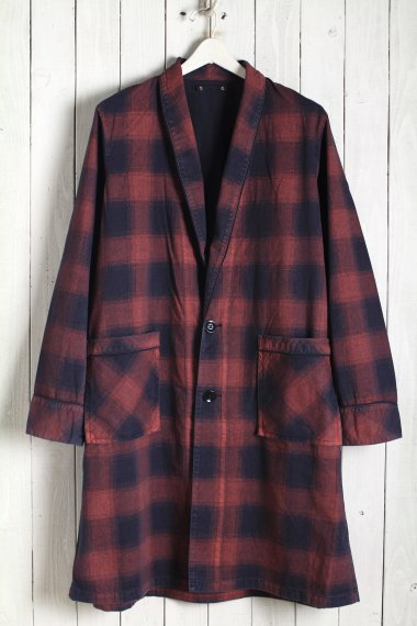 20SS Black Denim Check Gown RPT