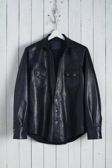 20SS Western Cutting Shirts -Pony Leather-