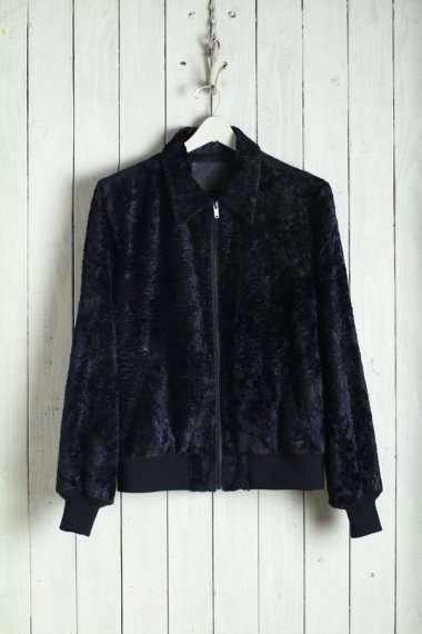 20SS Zip Rib Blouson -Fake Fur-