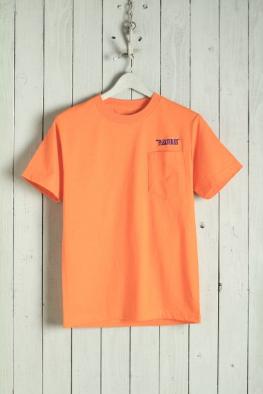 20SS Balance Embroidered Pocket Tee Orange