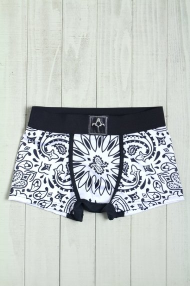 BACKBONE×YELLOW CAKE Under Wear Paisley White