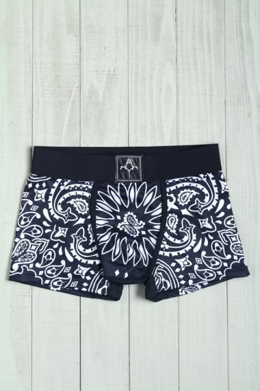 BACKBONE×YELLOW CAKE Under Wear Paisley Black【New】