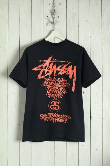 STUSSY Tee Designed by Pushead Black/Red