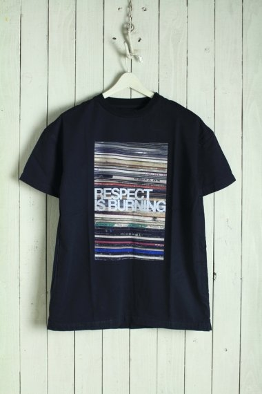 Flyer Print Denim T-SH BLK【New】
