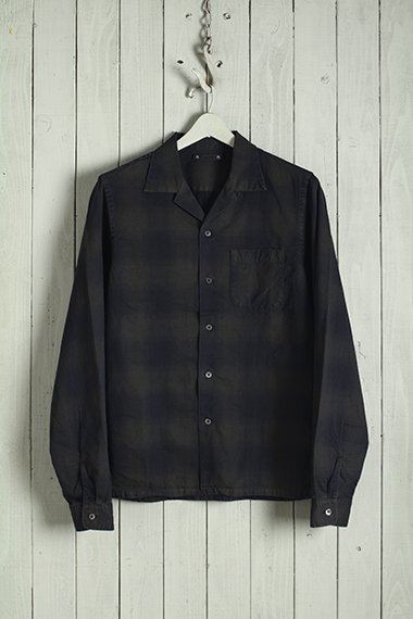20AW Ombre Check Open Collar SH BRT