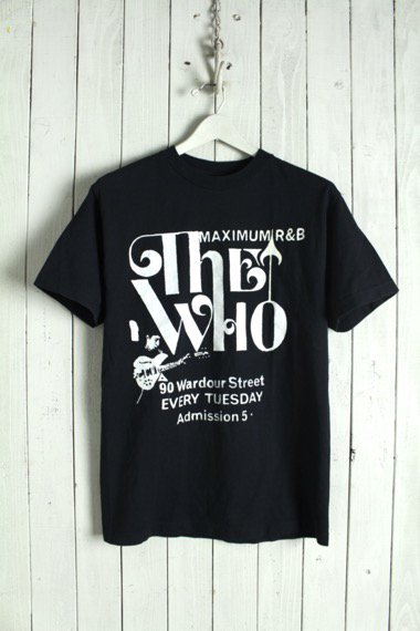 VINTAGE THE WHO BLACK TEE