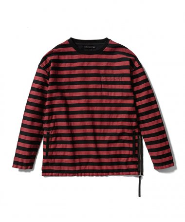 20AW Border Side zip L/S RPT