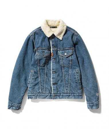 WIND AND SEA×MINEDENIM Denim Boa Jacket