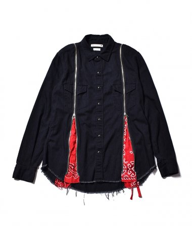 OLD PARK×MINEDENIM BANDANA ZIP DENIM SH RPT 4月17日 12時〜販売開始