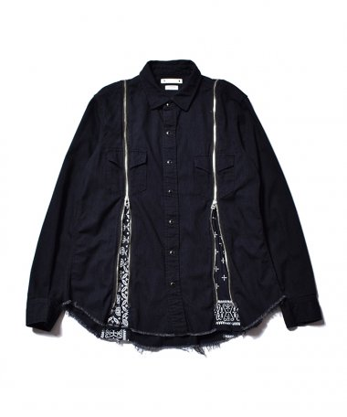 OLD PARK×MINEDENIM BANDANA ZIP DENIM SH BLT 4月17日 12時〜販売開始