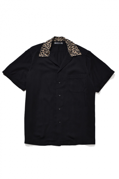21AW CD LEOPARD TRIMMING SHIRTS BLK