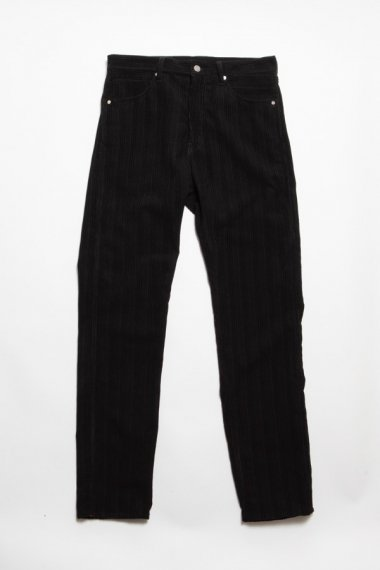 21AW 5 POCKET TAPERED PANTS -RANDOM CORDUROY WOOL- BLACK