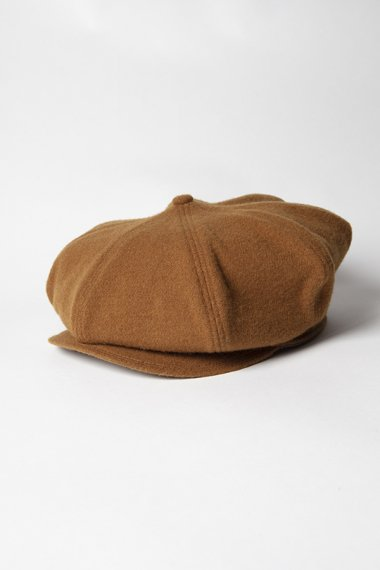21AW 8 PANEL CASQUETTE -SHRINKED WOOL- CAMEL