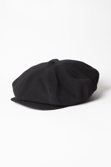 21AW 8 PANEL CASQUETTE -SHRINKED WOOL- BLACK