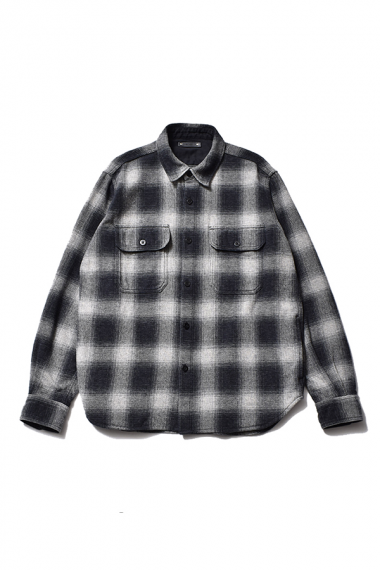 21AW OMBRE CHECK FLANNEL CPO SHIRTS BLT