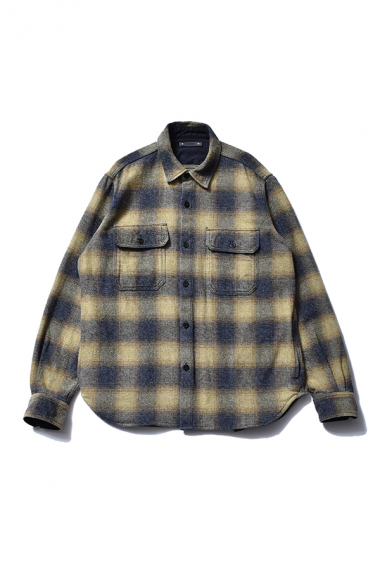 21AW OMBRE CHECK FLANNEL CPO SHIRTS YPT
