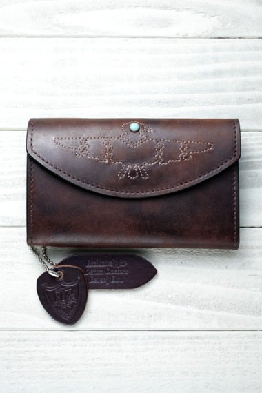 HTC×YELLOW CAKE Eagle Stitch Vintage Leather Wallet