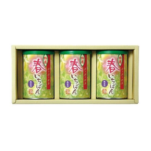 【新茶ご予約】 特選春いちばん 缶3本セット