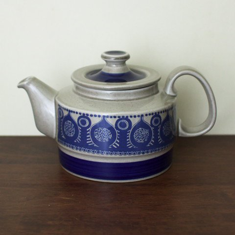 NORWAY STAVANGERFLINT GREY/BLUE TEA POT