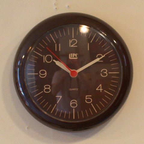 WEST GERMANY LIPC(IPC) DARK BROWN PLASTIC CLOCK