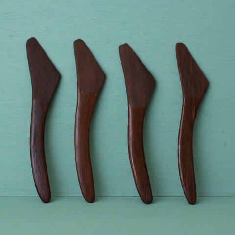 DENMARK SOLID TEAK BUTTER KNIFE(DARK COLOR)