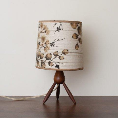 DENMARK TEAK TRIPLE LEGS BASE TABLE LAMP