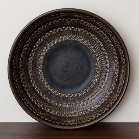 WEST GERMANY CHOCOLATE BROWN LARGE BOWL
