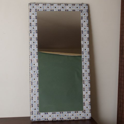 DENMARK HAND MADE TILE MIRROR(LARGE)