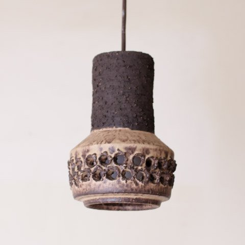 DENMARK BROWN CERAMIC SHADE PENDANT LAMP