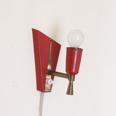 DENMARK POWDER RED STEEL WALL LAMP