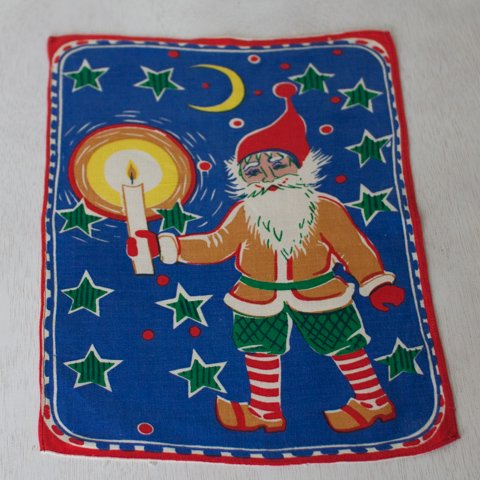 SWEDEN BLUE SANTA TABLE MAT