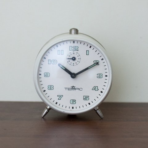 GERMANY TEMPIC WHITE ALARM CLOCK