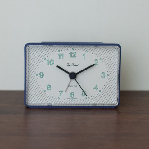 GERMNY hanhart BLUE BODY ALARM CLOCK